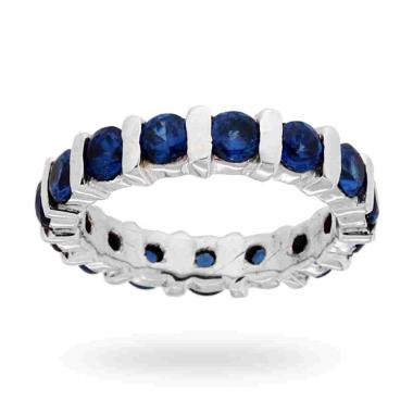 Anello Eternity con Zirconi Blu Zaffiro 3.5 mm in ARGENTO 925 Rodiato